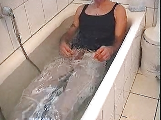 soaking my wifes denims and cumming