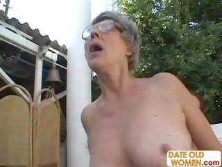 granny grandma licks dick and gang-bangs various
