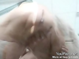 71 years old grandma squeezing