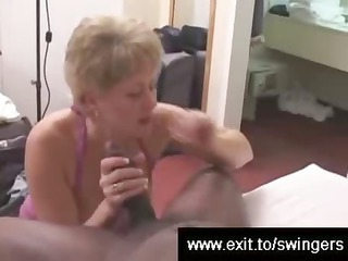 swinger milf tracey devours bbc during hubby films