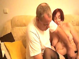 old pushing plastic cock by man friend