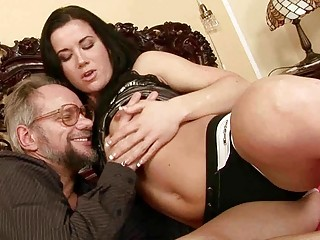 grandpa enjoys dirty porn with beautiful young