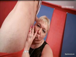 fat blond lady dr lucia blows stiff