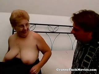 a chubby elderly has drill