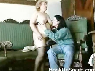 chubby bleached granny with hirsute vagina