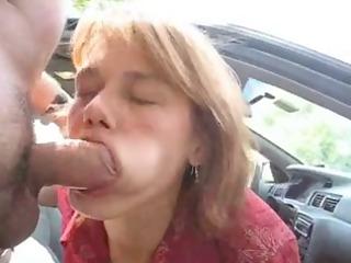 amateur girl blow work al fresco eats cum