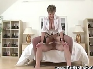 naughty mature brit obtains a sperm