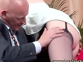 cougar chick inside stockings gets extremely