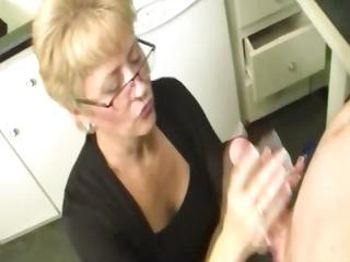 elderly decides to milk the lizard
