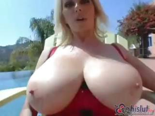 my naughty blonde chick has big tits and worships