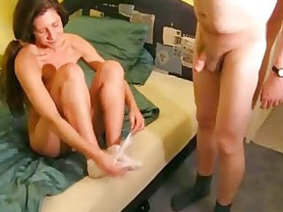 extremely impressive amateur lady lick and fuck