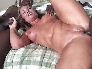 blond cougar does ass with blacks