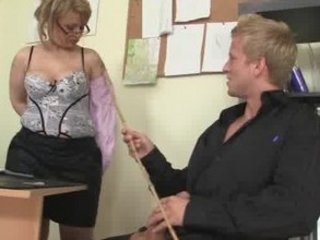 cougar workplace boss forces him fuck her hard