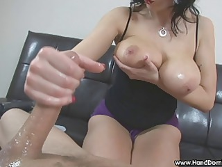 amazon woman with big real breast gives femdom