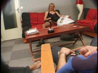 adorable french blonde grown-up lady carole takes