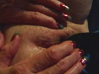 granny inexperienced cougar wife black dildo