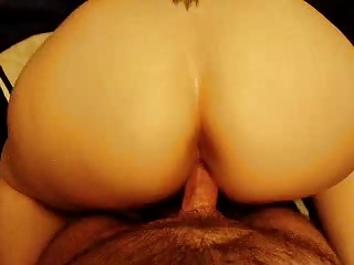 big ass lady takes doggystyled and jizzed on.