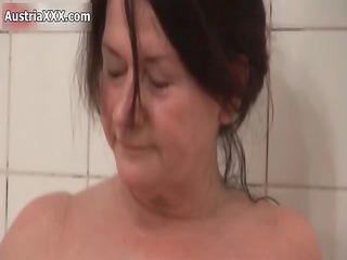 slutty old lesbians make out inside the tub part3