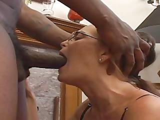 cougar babe sucks a black cock