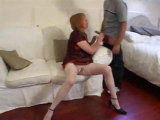 wife gives her man a dick sucking and copulates