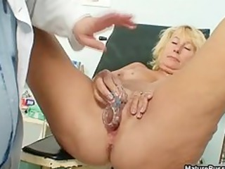 busty granny medic injects a speculum part1
