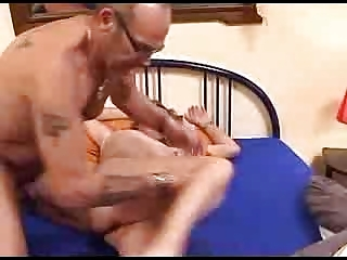 horny mature couple soak the bed