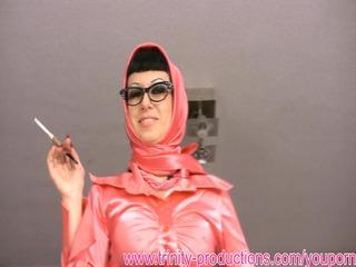 horny talking slutty chick smoking femdom