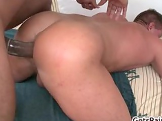 older muscle male licking dark penis part1