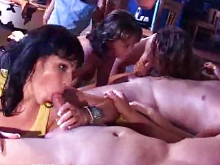 woman sisters daughters drill at a fuck gathering