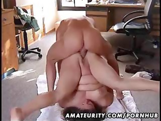 chubby fresh lady drilled on the floor