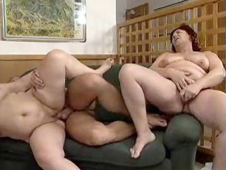 2 bbw grannies copulate guy