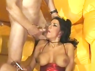 raunchy momma china doll bottom slammed with dick