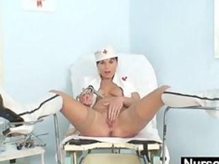 inexperienced babe nurse busty vagina stretching