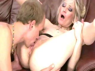stunning gilf obtains her juicy vagina tasted