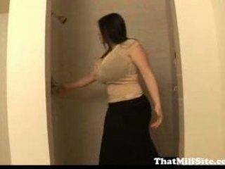 woman large tits fellatio