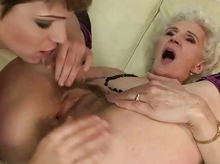 old enjoys homosexual woman fuck with young babe