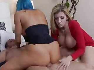 ancient naughty hotties share a dick