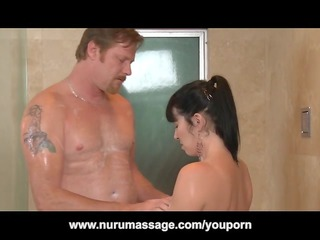 nuru massage fuck with huge bossom lady rayveness