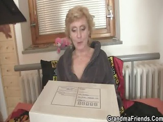 mature bitch gets two libidos