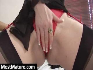 redhead lady pushing dildo slut