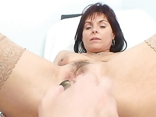 classy lady amp gets her elderly gap examined by