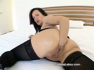 filthy brunette bitch goes horny ing