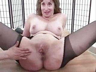 cougar suspender tights pantyhose pussy stretch
