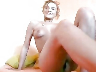grownup german gets nude and licks a cock