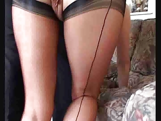 nasty mommy inside pantyhose takes her pussy