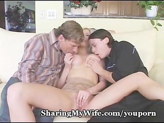 desperate three people with woman