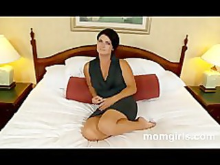 brunette milf does her primary cougar video