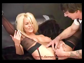 desperate blond brit chick tia layne rides his