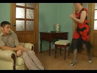 desperate older blondie seducing innocent