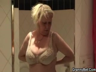 giant boobs elderly gang-banged uneasy by